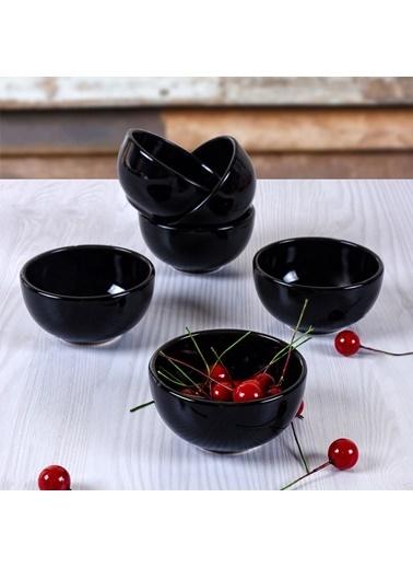 Keramika Keramika Siyah Bulut Çerezlik/Sosluk 8 Cm 6 Adet Renkli